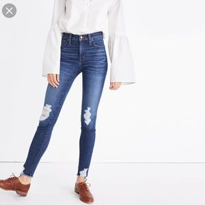"Madewell 9"" High Rise Skinny Deconstructed Jeans"